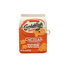 Load image into Gallery viewer, Goldfish Cheddar Silicone Protective Case For Apple Airpods 1 & 2 & Pro - Casememe.com