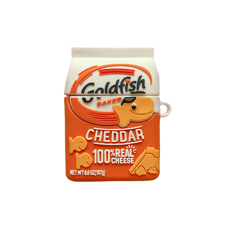 Goldfish Cheddar Silicone Protective Case For Apple Airpods 1 & 2 & Pro - Casememe.com