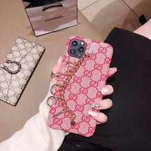 Load image into Gallery viewer, Gucci Style Hand Strap Protective Designer iPhone Case For iPhone 12 SE 11 Pro Max X XS Max XR 7 8 Plus - Casememe.com