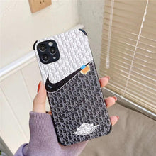 Load image into Gallery viewer, Dior x Nike Style Leather Designer iPhone Case For All iPhone Models - Casememe.com