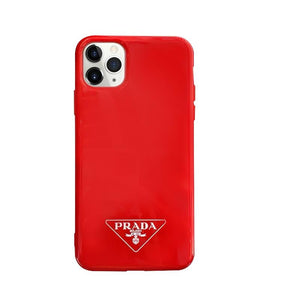 Prada Style Silicone Shockproof Protective Designer iPhone Case For iPhone 12 SE 11 Pro Max X XS Max XR 7 8 Plus - Casememe.com