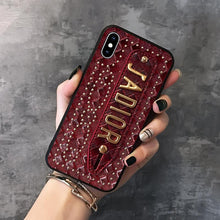 Load image into Gallery viewer, Christian Dior Style Hand Strap Shockproof Protective Designer iPhone Case For iPhone SE 11 Pro Max X XS Max XR 7 8 Plus - Casememe.com