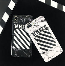 Load image into Gallery viewer, OFF WHITE Style Marble Classic Matte Soft Silicone Designer iPhone Case For iPhone SE 11 Pro Max X XS Max XR 7 8 Plus - Casememe.com