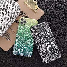 Load image into Gallery viewer, Christian Dior Style Graffiti Shockproof Protective Designer iPhone Case For iPhone SE 11 Pro Max X XS Max XR 7 8 Plus - Casememe.com