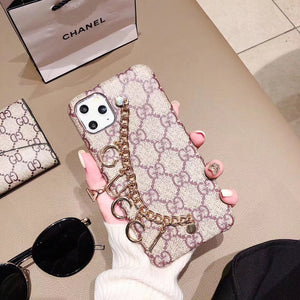 Gucci Style Hand Strap Protective Designer iPhone Case For iPhone 12 SE 11 Pro Max X XS Max XR 7 8 Plus - Casememe.com