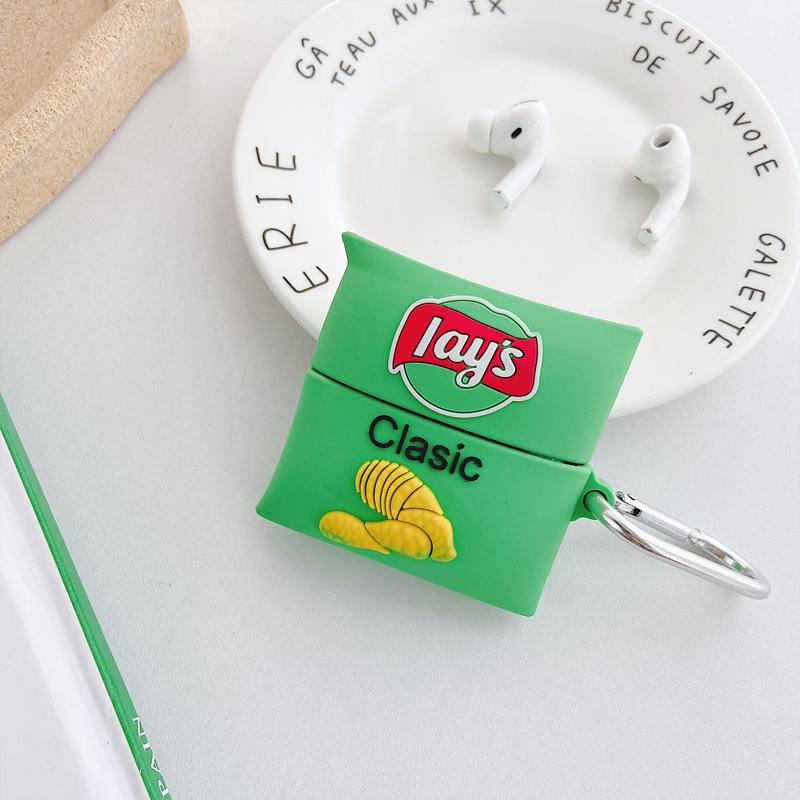 Lay's Chips Silicone Protective Case For Apple Airpods 1 & 2 & Pro - Casememe.com