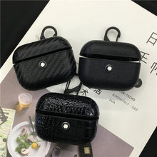 Load image into Gallery viewer, Mont Blanc Style Leather Protective Case For Apple Airpods 1 & 2 & Pro - Casememe.com