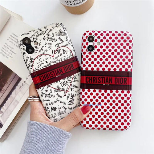 Christian Dior Style Love Shockproof Protective Designer iPhone Case For iPhone SE 11 Pro Max X XS Max XR 7 8 Plus