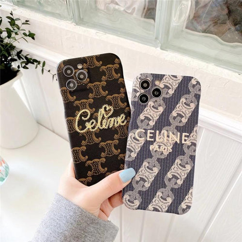 Celine Style Embroidery Designer iPhone Case For all iPhone models - Casememe