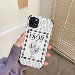 Dior x Nike Style Leather Designer iPhone Case For All iPhone Models - Casememe.com