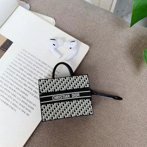 Christian Dior Style Book Tote Protective Case For Apple Airpods 1 & 2 & Pro - Casememe.com