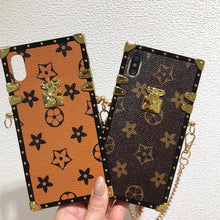Load image into Gallery viewer, Louis Vuitton Style Trunk Monogram Leather Designer iPhone Case For All iPhone Models - Casememe.com