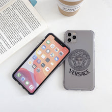 Load image into Gallery viewer, Versace Style Clear Shockproof Protective Designer iPhone Case For iPhone 12 SE 11 Pro Max X XS Max XR 7 8 Plus - Casememe.com