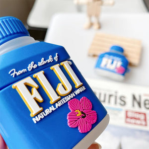 FIJI Mineral Water Silicone Protective Case For Apple Airpods 1 & 2 & Pro - Casememe.com