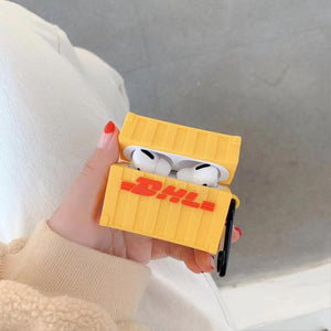 DHL Box Silicone Protective Case For Apple Airpods 1 & 2 & Pro - Casememe.com