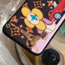 Load image into Gallery viewer, Louis Vuitton x Takashi Murakami Style Luxury Leather Tower Protective Designer iPhone Case For iPhone SE 11 Pro Max X XS Max XR 7 8 Plus - Casememe.com