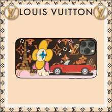 Load image into Gallery viewer, Louis Vuitton x Takashi Murakami Style Luxury Leather Tower Protective Designer iPhone Case For iPhone 12 SE 11 Pro Max X XS Max XR 7 8 Plus - Casememe.com
