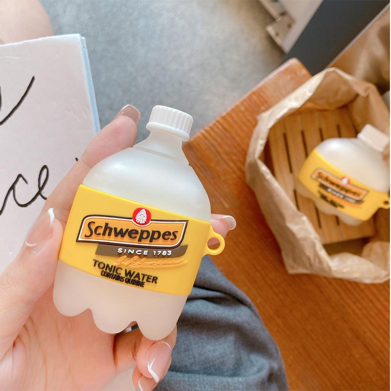 Schweppes Tonic Water Silicone Protective Case For Apple Airpods 1 & 2 & Pro - Casememe.com
