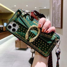 Load image into Gallery viewer, Gucci Style Dionysus Strap Protective Designer iPhone Case For iPhone SE 11 Pro Max X XS Max XR 7 8 Plus - Casememe.com