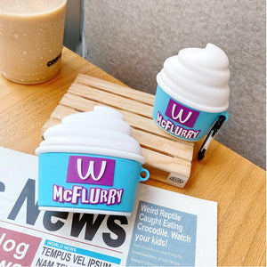 McFlurry Ice Cream Silicone Protective Case For Apple Airpods 1 & 2 & Pro - Casememe.com