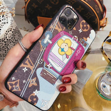 Load image into Gallery viewer, Louis Vuitton x Takashi Murakami Style Leather Telpher Protective Designer iPhone Case For iPhone SE 11 Pro Max X XS Max XR 7 8 Plus - Casememe.com