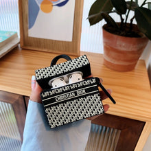 Load image into Gallery viewer, Christian Dior Style Book Tote Protective Case For Apple Airpods 1 & 2 & Pro - Casememe.com