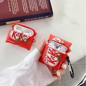 KitKat Chocolate Silicone Protective Case For Apple Airpods 1 & 2 & Pro - Casememe.com