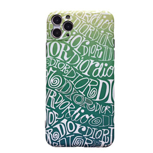 Christian Dior Style Graffiti Shockproof Protective Designer iPhone Case For iPhone SE 11 Pro Max X XS Max XR 7 8 Plus - Casememe.com