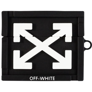 Off White Style Silicone Protective Case For Apple Airpods 1 & 2 & Pro - Casememe.com