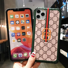 Load image into Gallery viewer, Gucci Style Corner Protection Protective Designer iPhone Case For iPhone SE 11 Pro Max X XS Max XR 7 8 Plus
