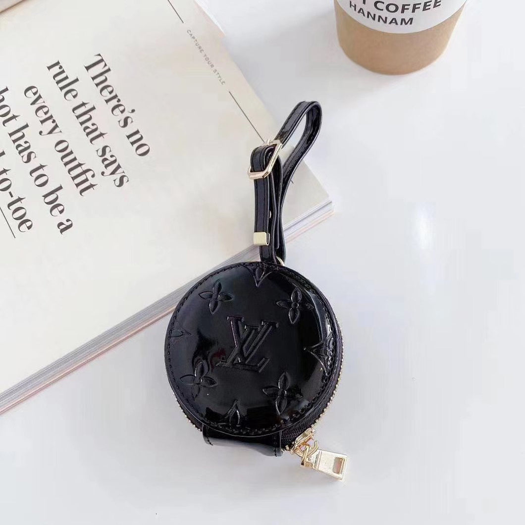 Louis Vuitton Style Round Corner Protective Case For Apple Airpods 1 & 2 & Pro - Casememe.com