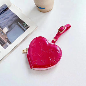 Louis Vuitton Style Heart Glossy Protective Case For Apple Airpods 1 & 2 & Pro - Casememe.com
