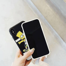 Load image into Gallery viewer, VANS x Simpsons Style Black Silicone Designer iPhone Case For iPhone X XS XS Max XR 7 8 Plus - Casememe.com