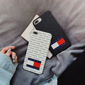 Tommy Hilfiger Style Silicone Designer iPhone Case For iPhone X XS XS Max XR 7 8 Plus - Casememe.com