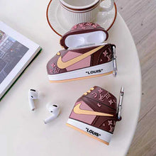 Load image into Gallery viewer, Louis Vuitton Style Sneaker Silicone Protective Case For Apple Airpods 1 & 2 & Pro - Casememe.com