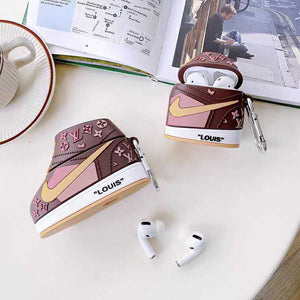 Louis Vuitton Style Sneaker Silicone Protective Case For Apple Airpods 1 & 2 & Pro - Casememe.com