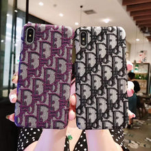 Load image into Gallery viewer, MORE COLORS Dior Style Classic Fabric Silicone Designer iPhone Case For iPhone SE 11 PRO MAX X XS XS Max XR 7 8 Plus - Casememe.com