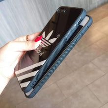 Load image into Gallery viewer, Adidas Originals Pyramid Stripe Tempered Glass Glossy Designer iPhone Case For iPhone SE 11 PRO MAX X XS XS Max XR 7 8 Plus - Casememe.com