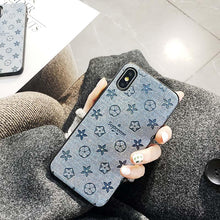 Load image into Gallery viewer, Louis Vuitton x Supreme Style Jeans Silicone Protective Designer iPhone Case For iPhone SE 11 Pro Max X XS Max XR 7 8 Plus - Casememe.com