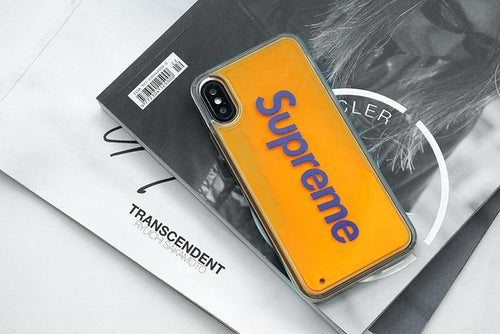Supreme Style Luminating Quicksand Shockproof Protective Designer iPhone Case For iPhone SE 11 Pro Max X XS Max XR 7 8 Plus