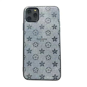 Louis Vuitton x Supreme Style Jeans Silicone Protective Designer iPhone Case For iPhone SE 11 Pro Max X XS Max XR 7 8 Plus - Casememe.com
