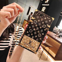 Load image into Gallery viewer, Louis Vuitton Style Trunk Tempered Glass Designer iPhone Case For iPhone 12 SE 11 Pro Max X XS Max XR 7 8 Plus - Casememe.com