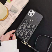 Load image into Gallery viewer, Dior Style Luxury Leather Cardholder Wallet Shockproof Protective Designer iPhone Case For iPhone 12 SE 11 Pro Max X XS Max XR 7 8 Plus - Casememe.com