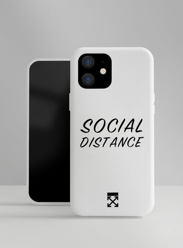 OFF Social Distance Designer iPhone Case For iPhone SE 11 Pro Max X XS Max XR 7 8 Plus - Casememe.com