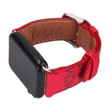 Load image into Gallery viewer, MORE COLORS MCM Style Leather Classic Compatible With Apple Watch 38mm 40mm 42mm 44mm Band Strap For iWatch Series 4/3/2/1 - Casememe.com