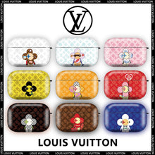 Load image into Gallery viewer, Louis Vuitton Style Hard Protective Case For Apple Airpods 1 & 2 & Pro - Casememe.com