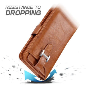Hermes Style Luxury Retro Leather Phone Bag Magnetic Cases for iPhone  SE 11 PRO MAXX XS XR XSMax 7 8 Plus Multifunctional 2 in 1 Wallet Cover - Casememe.com
