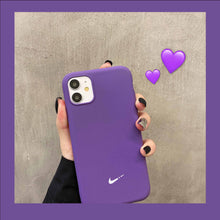Load image into Gallery viewer, Nike Style Classic Matte Silicone Protective Designer iPhone Case For iPhone SE 11 Pro Max X XS Max XR 7 8 Plus - Casememe.com