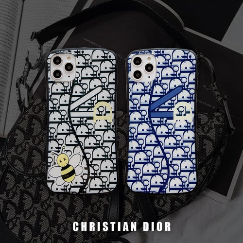 Christian Dior Style Classic Luxury Round Corner Glossy Shockproof Protective Designer iPhone Case For iPhone SE 11 Pro Max X XS Max XR 7 8 Plus - Casememe.com