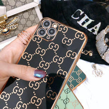 Load image into Gallery viewer, Gucci Style Classic Electroplating Shockproof Protective Designer iPhone Case For iPhone SE 11 Pro Max X XS Max XR 7 8 Plus - Casememe.com
